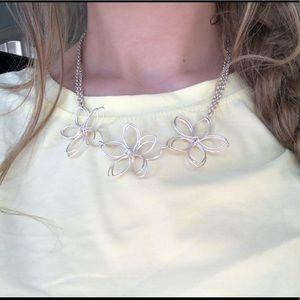Jewelry - unique flower statement necklace
